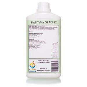 1L Shell Tellus S2 MX 22 (S2 M 22/Tellus 22/23) ISO VG 22 Hydraulic Fluid Oil