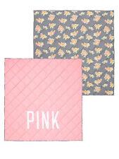 RARE NEW Victoria Secret Pink GRAY FLORAL REVERSIBLE COMFORTER TWIN XL DORM BED