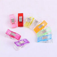 50-200X Plastic Wonder Clips Fabric Quilting Crochet Sewing Knitting Craft Tools