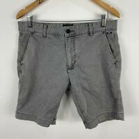 Industrie Mens Chino Shorts 32 Grey Slim Fit Pockets