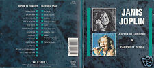 Janis Joplin - DCD - In Concert 1972 & Farewell Song 1982 - Disc von 1994 - ! !