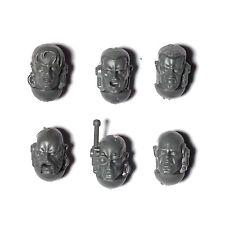 Deathwatch Kill Team Veteran Bare HEADS x 6  - Space Marine 40K