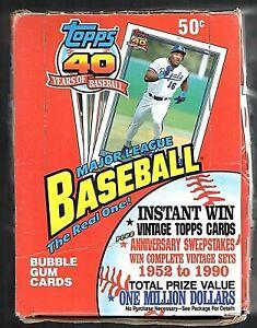 1991 Topps Baseball Wax Pack Box Unopened 36 Packs Chipper Jones RC??