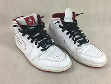 Red and white Air Jordan Nike mens 10.5 shoes - A4