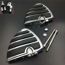 Chrome Front Wing Foot Pegs Rest For 1999-2009 2008 07 Yamaha V-Star 1100 Custom