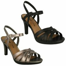 Clarks Buckle 100% Leather Sandals for Women