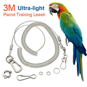 Flexible Bird Leash with Leg Ring Parrot Birds Harness Anti-bite Outdoor Flying
