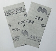 "New Finishing Sheet 3 sheets 3'' x 6"" 12000 grit Extra Fine Sandpaper"