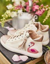 Joules Girls Runaround High Top Trainers - Pink Flamingo - Childrens 2