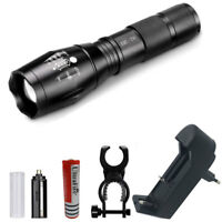 15000LM XML-T6 Zoomable Flashlight LED Torche 6800mAh Batterie et EU Chargeur