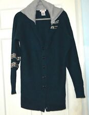 A TRULY STYLISH LA ROK CASHMERE LONG HOODIE CARDIGAN/JACKET