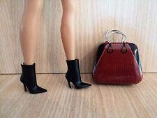 Barbie Designer Large Metal Weekender/Large Tote Case with Black Ankle Boots