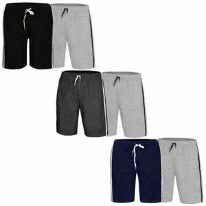2Pack Mens Loungewear Shorts Stretch PJ Nightwear Pjyama Bottoms Sleepwear Pants