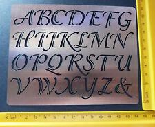 Stainless/Steel/stencil/Upper Case/Alphabet/SCRIPT/Emboss/CHECK DESCRIPTION