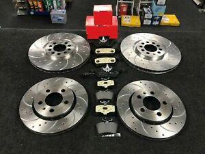 FOR AUDI TT 3.2 V6 QUATTRO MK1 8N FRONT REAR DRILLED GROOVED BRAKE DISCS & PADS