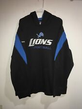 Detroit Lions Hoodie Black NFL Onfield Reebok Size XL Play Dry Moisture Wicking