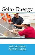 Solar Energy by Ade Asefeso MCIPS MBA (2014, Paperback)