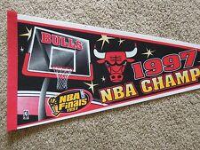1997 NBA Champs Basketball Full Size 30 Inch Pennant Chicago Bulls