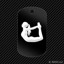 Yoga Keychain GI dog tag engraved many colors