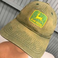 John Deere Tractor Discolored Genuinely Distressed Snapback Baseball Hat Cap