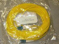 15 Meter LC-LC Fiber Optic Cable Duplex Single Mode NEW!