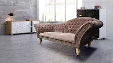 Chesterfield Chaiselounge Sofa Couch Polster Sitz Garnitur Textil Relax liege