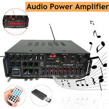 2000w Bluetooth Home Digital Stereo Power Amplifier 2.0 Channel Port Fm &remote(Fits: More than one vehicle)