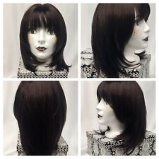 Brown Wig With Bangs Synthetic Feel Free Wig    B19