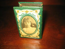 ANTIQUE VINTAGE VESTA CASE MATCHBOX HOLDER  PORTRAITS OF CHILDREN c1920 ENGLAND