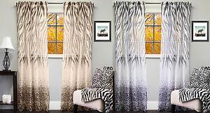 "Kenya Sheer Exotic Zebra & Leopard Print Curtain Panel 50"" x 84"""