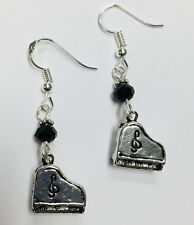 Piano, Pianist, Musician, Music earrings, FREE SHIPPING,sterling silver earwires