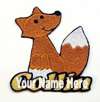 Fox Custom Iron-on Patch With Name Personalized Free