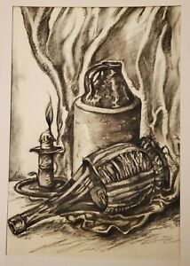 Allen Shapiro A JAY Harry Chess 1st GAY Cartoonist Charcoal Bottles Jug Candle