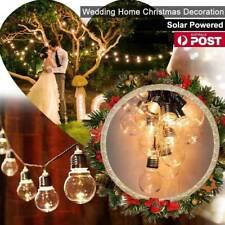 New LED Retro Bulb String Light Solar Power Wedding Outdoor Warm White Lamp UK