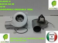 Estrattore fumi stufa pellet ventilatore + encoder universale 40W classe H d.80