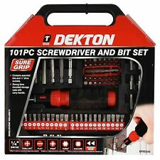 101pc Assorted Destornillador Bit Set Tool Kit controlador de trinquete fuerte Funda De Transporte