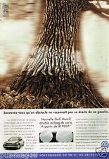 Publicité advertising 1997 VW Volkswagen Golf Match
