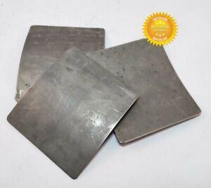 3 pcs Titanium bulletproof plates for body armor 105*125 mm thick 1.5 mm