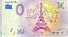 BILLET 0  EURO SOUVENIR  TOUR EIFFEL FRANCE  2020  NUMERO DIVERS
