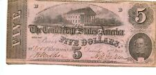1862  $5     Confederate Currency  T-53