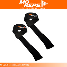 MO REPS®  Weight Lifting Straps Weightlifting Bodybuilding Wrist Support Black