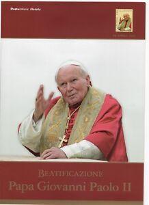 FOLDER 2011  BEATIFICAZIONE PAPA GIOVANNI PAOLO II VALORE FACCIALE € 20,00