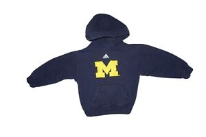 University Of Michigan Wolverines Hoodie Adidas Youth Med 5-6