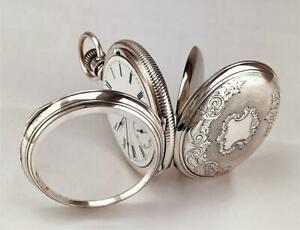 Scarce 1884 Waltham P.S.BARTLETT 11 Jewels in 0,900 COIN SILVER CASE  18s - RUNS