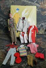 Vtg Ken 1960 Doll Ken Ponytail Case And Clothe Lot