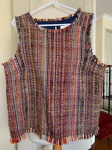 Colourful tweed/boucle vest, MAEVE, Anthropologie, s 10, BNWT, gorgeous