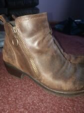 Fly Brown Ankle Boots Size 39/6