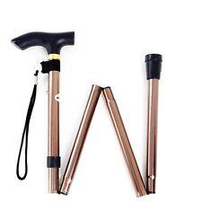 Cane Folding Walking Adjustable Stick Foldable Fold Up Travel Tip Slip Aluminum