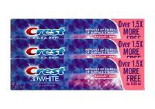 3x CREST 3d WHITE radianti MINT per abbronzatura denti dentifricio con fluoruri 99g