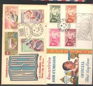 Laos  2 nice  cachet  covers    MS0925